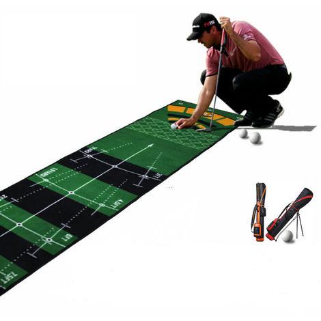 tapis d entrainement au putting golf pour bureau 300 x 50cm hobby tech