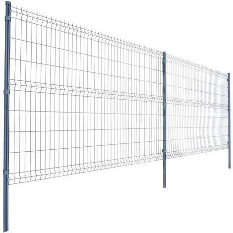 lot de 4 panneaux rigides gris 2 50 x h 1 53 m