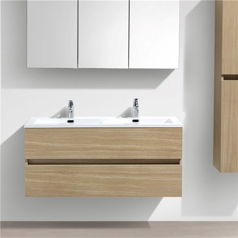 Double Vasque A Poser 160 Cm Lavabo Marbre De Synthese Blanc Salle De Bain Vasque 1600mm