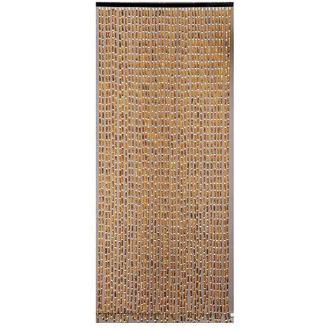 morel rideau de porte perles olives en bois 90x200 cm