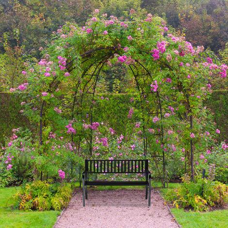 banc de jardin banc exterieur balcon 2 places banc metal acier 82 x 127 5 x 59 5 cm noir
