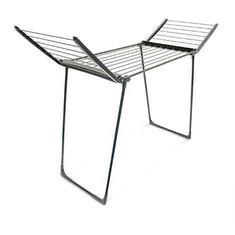 relaxdays foldable clothes drying rack indoor outdoor use folding laundry horse airer total line length 13 m