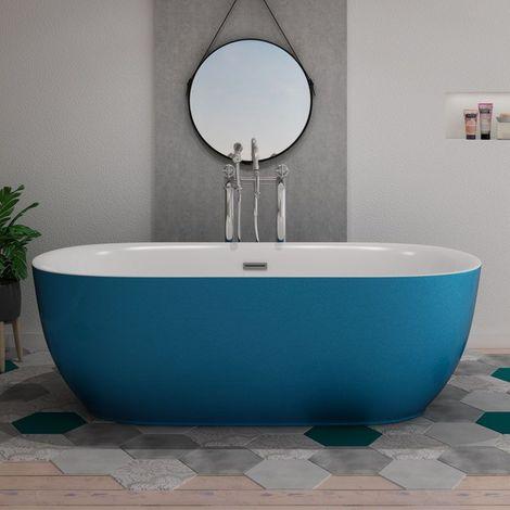 baignoire ilot lamone blue
