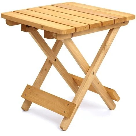 square folding solid wood garden patio side table coffee snack picnic drink
