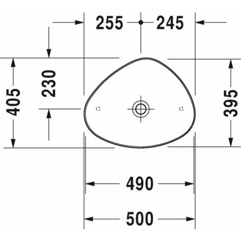 vasque a poser duravit cape code 500mm blanc blanc