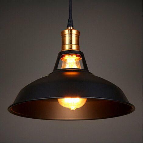 lustre suspension industrielle vintage e27 lampe plafonniers retro abat jour pour cuisine salle a manger salon chambre restaurant