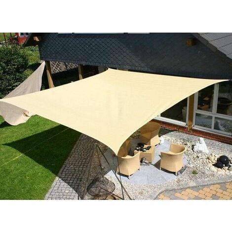 Axt shade tenda a vela impermeabile triangolare 3x3x3m, parasole e protezione raggi uv, per esterni, cortile, giardino, colore crema. Tenda A Vela Telo Quadrato Ombreggiante Ecru Per Arredo Esterno Giardino Mare Dimensione Disponibile 3 6 X 3 6 Metri
