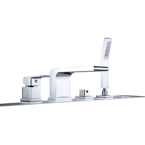 robinet mitigeur design pour montage sur bord de baignoire 4 trous 6080