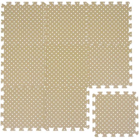 littletom tapis de jeu doux pour bebe dalles puzzle en mousse beige points