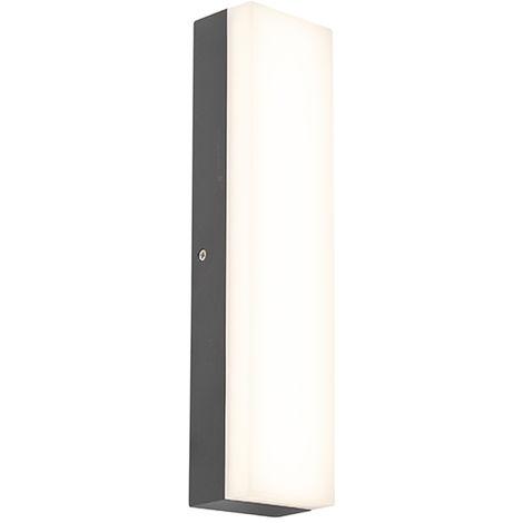 led applique exterieure rectangulaire moderne graphite antracite gris fonce opacus qazqa moderne luminaire exterieur ip65