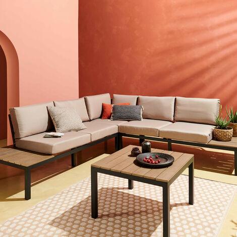 tapis d exterieur en pvc design 120 x 180 cm taupe