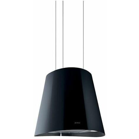 hotte decorative ilot 51cm 600m3 h noir junobk f51 elica
