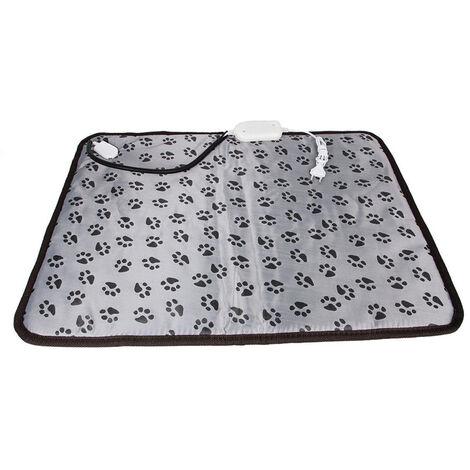 chien chat coussin chauffant chaud impermeable tapis lit pour chiens chats rechauffement interieur mat 45 45cm motif d empreinte