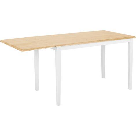 table a manger en bois d hevea avec rallonge louisiana