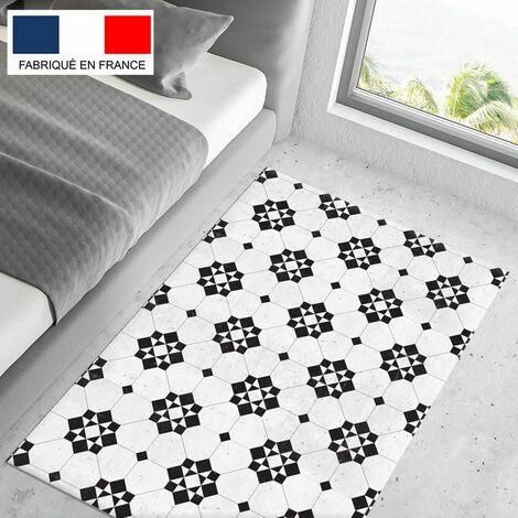 tapis cuisine en vinyle pvc tarkett 80x120 pour sol cuisine sous evier ou salle de bains style carreaux de ciment motif bilbao
