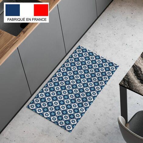 tapis cuisine en vinyle pvc tarkett 49 5x109 pour sol cuisine sous evier ou salle de bains style carreaux de ciment motif bilbao