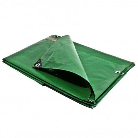 bache pergola 3 x 5 m toile pour tonnelle 250g m traitee anti uv verte et marron polyethylene haute qualite