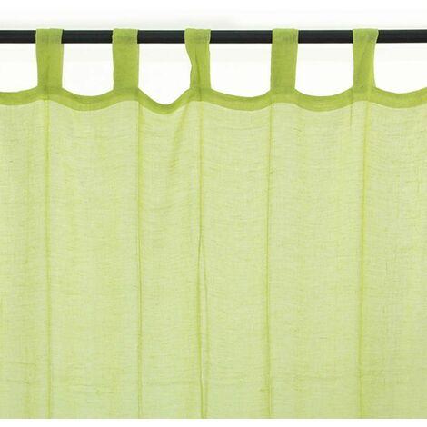 premium voilage 100 coton a pattes vert 110x250 vert