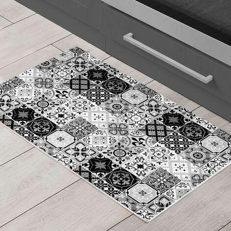 carreaux de ciment tapis motifs carreaux de ciment noir blanc 40x60 noir blanc