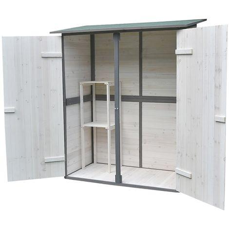 xxl cabane a outils blanche grise cabane a outils en bois armoire a outils armoire de jardin