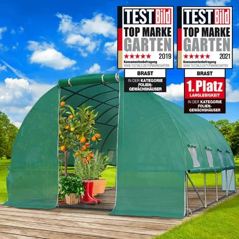 serre tunnel 12m 3x4 parois enroulables croissance optimale des plants aeration optimale montage rapide 12 m serre de jardin de brast