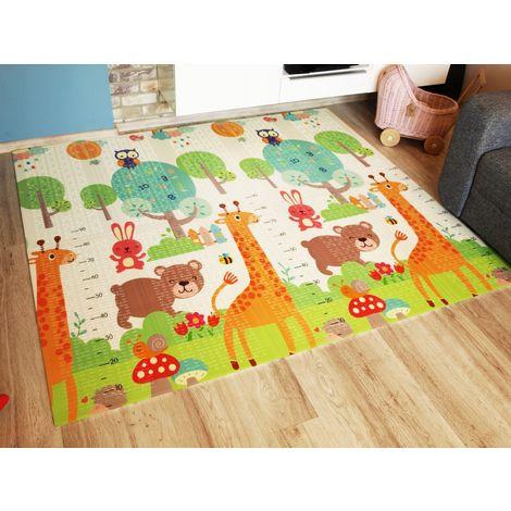 cosi tapis d eveil evolutif double fac mousse xpe 200x180 cm bebe enfant espace de jeu impermeable antiderapant non toxique blanc orange