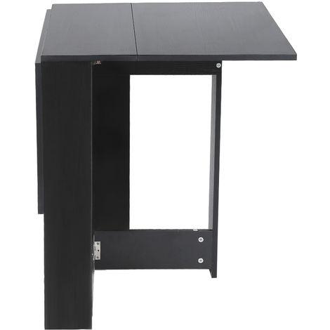 klapptisch klapptisch esstisch beistelltisch schreibtisch ablageflache tisch 103x76x73 4cm schwarz