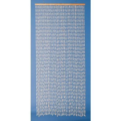 rideau de porte torsade de mais naturel morel 90 x 200 cm beige