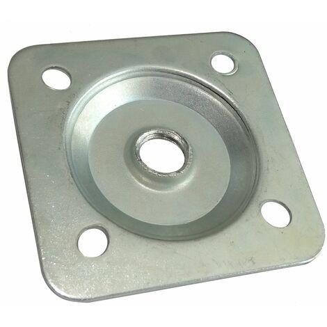 10x m10 47 47 mm plaque plaquette base support de fixation montage pied verin de meuble reglable ajustable