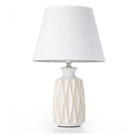 Atmosfera orientale assicurata con questa piccola lampada da comodino dimensioni: Lampada Da Tavolo Lume Comodino Ceramica Tessuto Grigio Design Moderno Abatjour