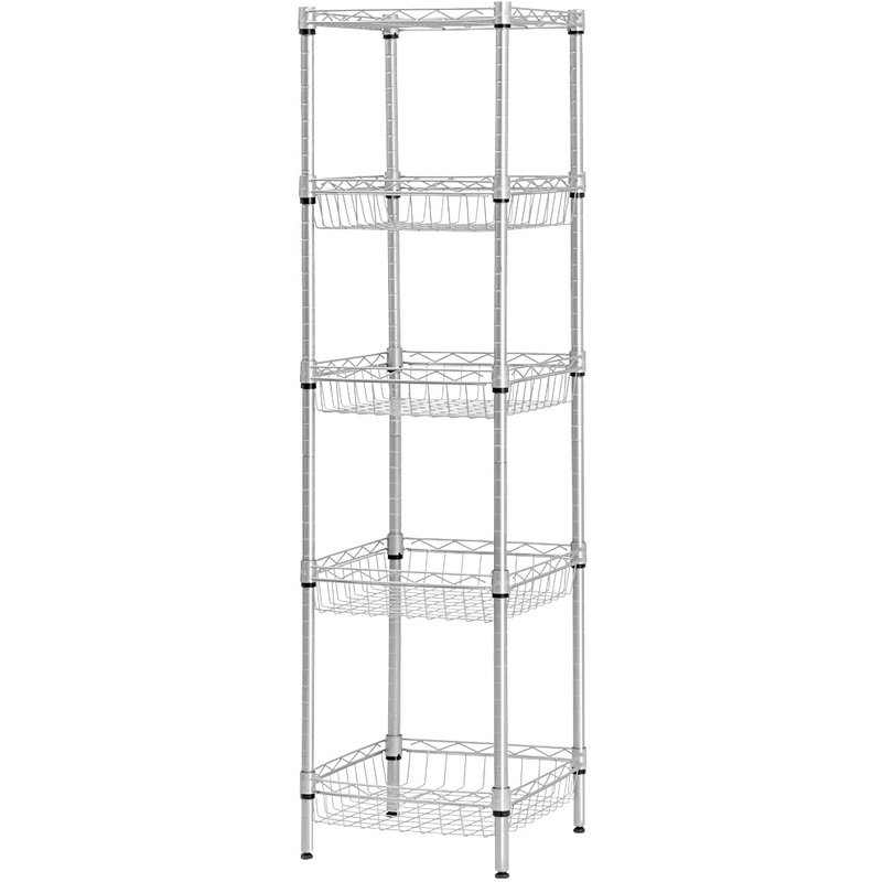 LANGRIA 5 Tier Wire Storage Rack Shelving for Organization