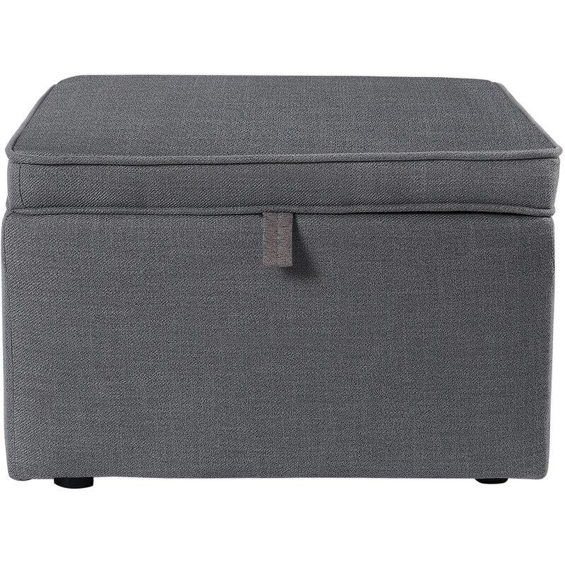 large square ottoman storage box footstool 60cm