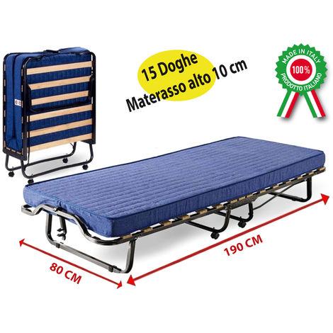 lit lit pliant en fer inoxydable avec roues et matelas pour les h