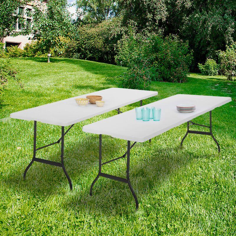 lot de 2 tables pliantes portables pour