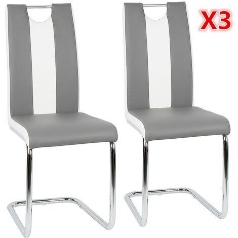 chaise grise et blanche a prix mini