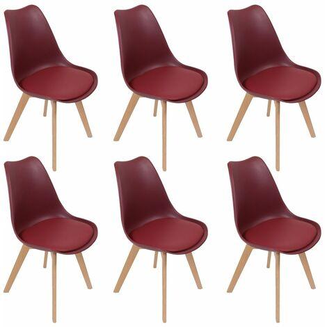 chaise scandinave rouge a prix mini