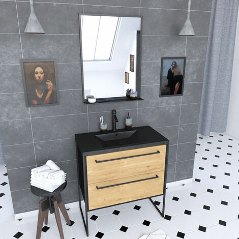 Meuble Salle De Bain Noir Mat A Prix Mini