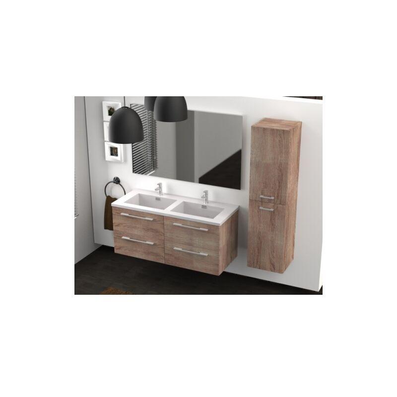 Meuble Double Vasque 117 Jupiter 2 0 Bois Fonce Sans Miroir Ci 120 Rb33911