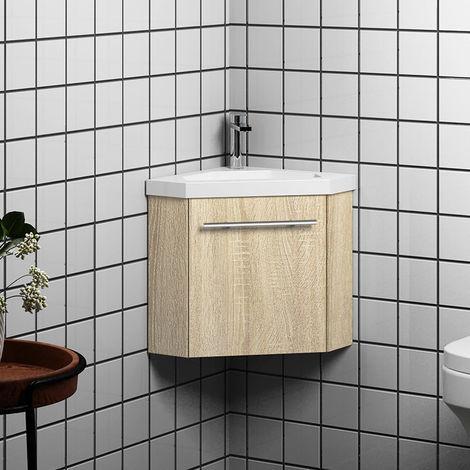 meuble salle de bain d angle 1 porte meuble suspendu avec la vasque