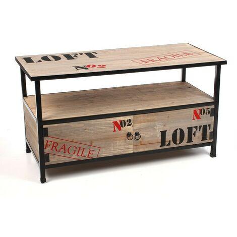 meuble bois metal a prix mini