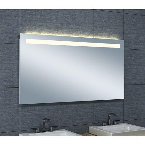Miroir De Salle De Bains Avec Eclairage Led Horizontale 65 Cm X 120 Cm Hxl 3283425567212