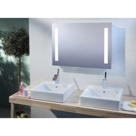 Miroir De Salle De Bains Avec Eclairage Led Modele Bluetooth 90 65 Cm X 90 Cm Hxl 3283425559682