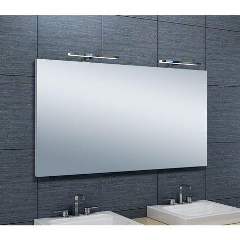 Miroir De Salle De Bains Avec Spot Led Horizontale 65 Cm X 120 Cm Hxl 3283425567502
