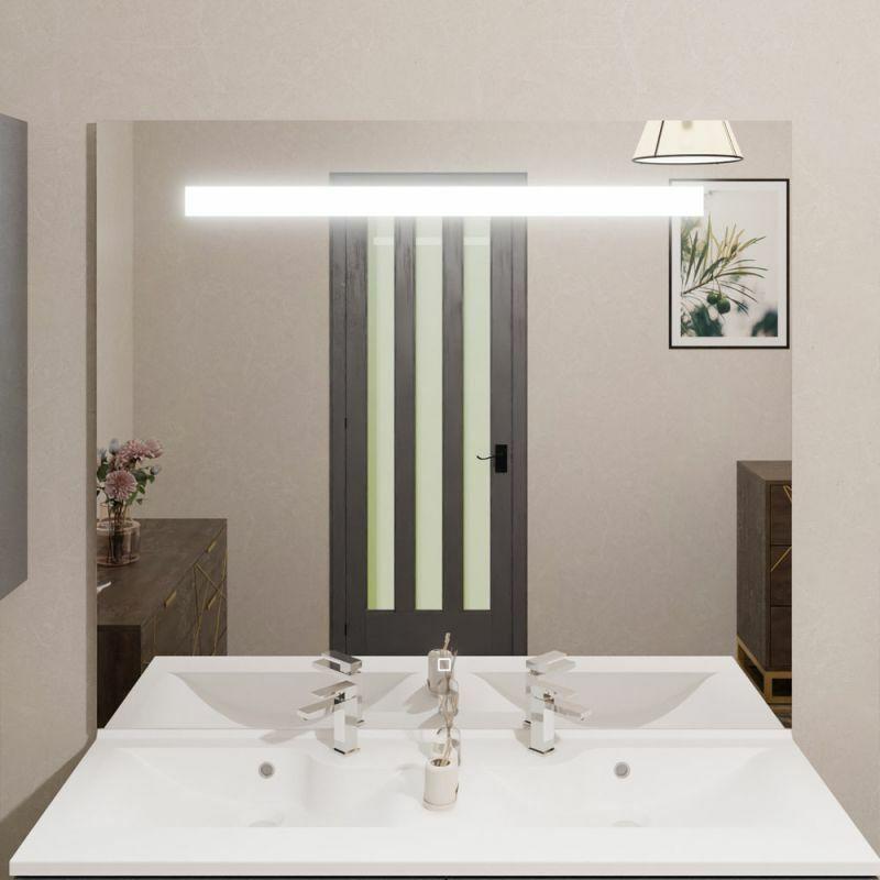 Miroir Elegance 120x105 Cm Eclairage Integre A Led Et Interrupteur Sensitif S02elegan120ghl