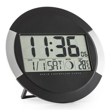 Oneconcept Clockwork Horloge Murale Numerique Sans Fil Calendrier Thermometre Wth5 Clockwork