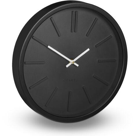 orologio da parete moderno con doppio quadrante. Orologio Da Parete Decorazione Moderno Analogico Salotto Camera Da Letto Cucina Sala O 35 Cm Nero