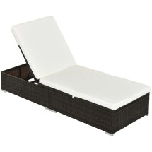 outsunny rattan recliner lounger
