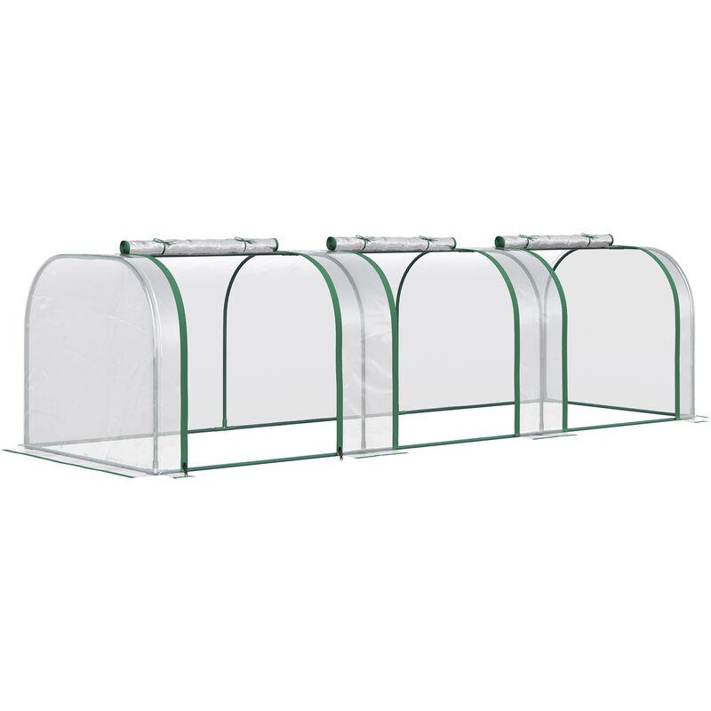Outsunny Transparent PVC Greenhouse Steel Frame 300L x