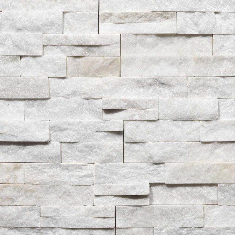 parement quartzite white snow ep 2 3cm vendu par lot de 0 522 m blanc
