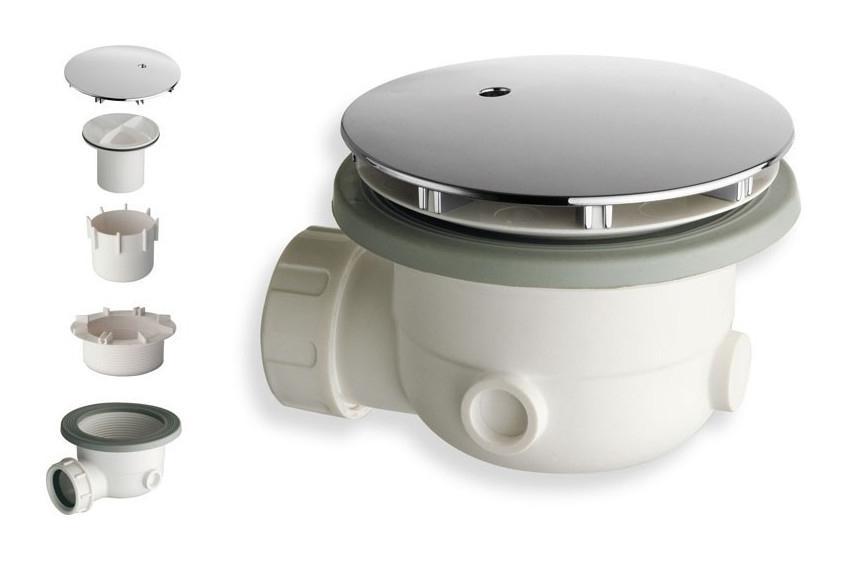 Piletta di scarico sifonata SILFRA AD300 per piatti doccia diametro 90 cromata